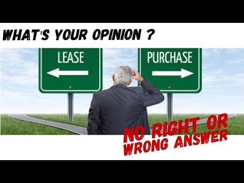 Ownership or Full Maintenance Lease - and why ?