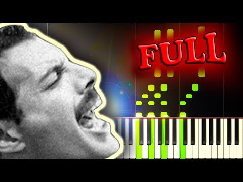 QUEEN - DON'T STOP ME NOW - FULL Piano Tutorial
