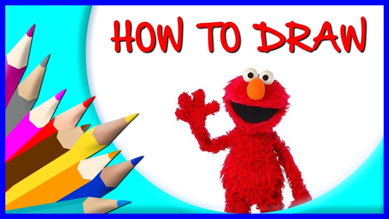 How To Draw Elmo Cartoon Character From Sesame Street