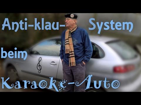 Das Anti klau System beim karaoke Auto