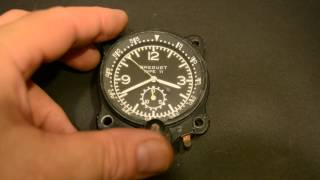 Breguet WAKMANN Type 11 AIRPLANE AIRCRAFT CLOCK VINTAGE AIR FORCE № 21890