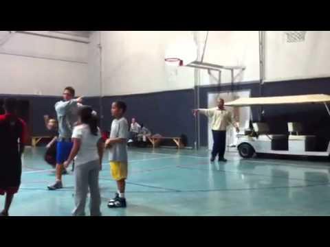 Jarious at Basketball Practice