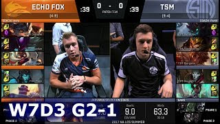 Echo Fox vs TSM | Game 1 S7 NA LCS Summer 2017 Week 7 Day 3 | FOX vs TSM G1 W7D3
