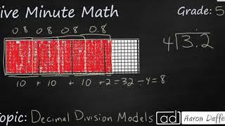 5th Grade Math Decimal Division with Models