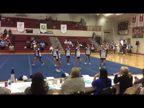 Arab High School competition cheerleaders at regionals