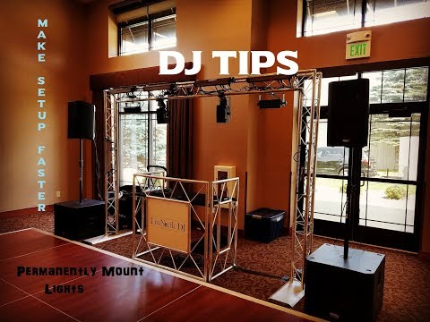 Mobile DJ Tips | Mounting Lights Permanently | Faster Setup | Gear Vid