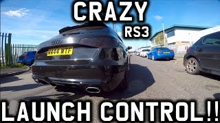 CRAZY LAUNCH CONTROL IN MY MATES RS3!!!!