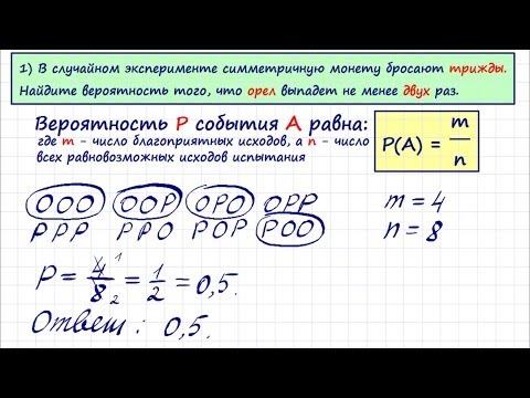 Решение задач по вероятности с пояснением геометрія решения задач
