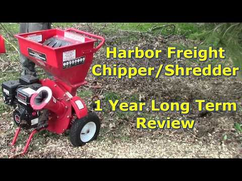 Harbor Freight Wood Chipper & Shredder 1 Year Long Term Review by @GettinJunkDone