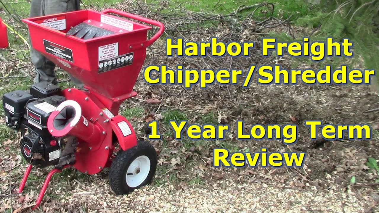 Harbor Freight Wood Chipper Shredder 1 Year Long Term Review By Gettkdone