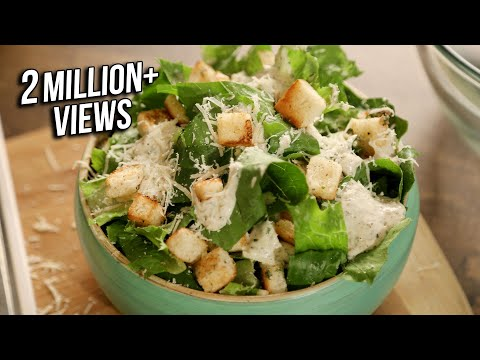 Caesar Salad Recipe | How To Make Salad | Homemade Caesar Salad | The Bombay Chef | Varun Inamdar