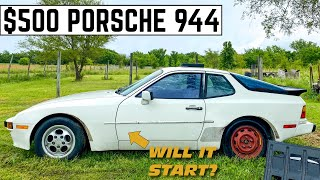I Bought A PORSCHE 944 For $500 And FIXED It For $7