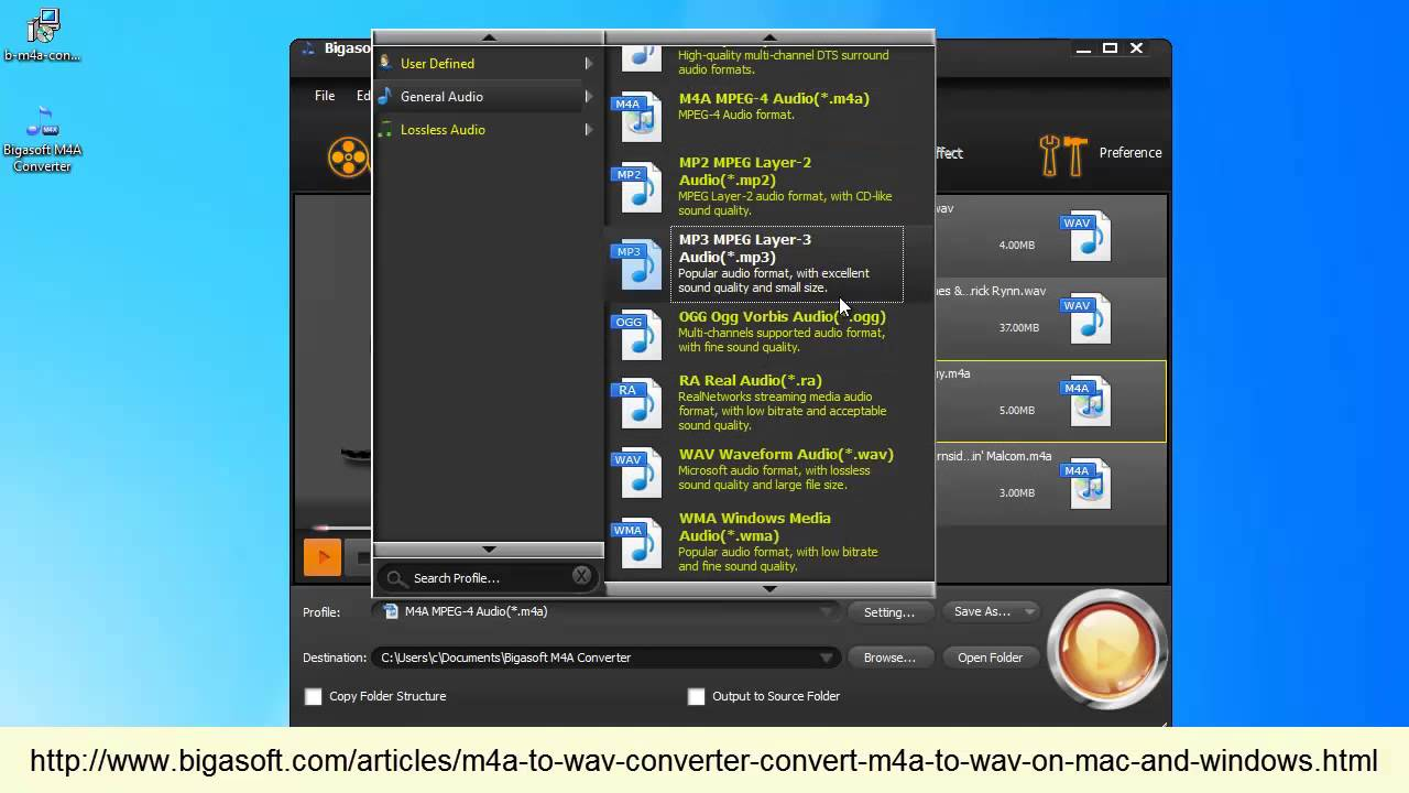 Easy and Fast M4A to WAV Conversion with high quality
