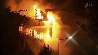В Грозном разбираются в причинах пожара в самом большом торгово-развлекательном центре города.