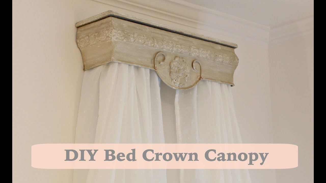 Canopy Bed Crown Molding Baby Nursery Wall Decor Idea Youtube