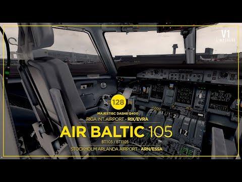 P3DV4 | Dash8 | Riga Int. Airport - RIX/EVRA → Arlanda Airport - ARN/ESSA