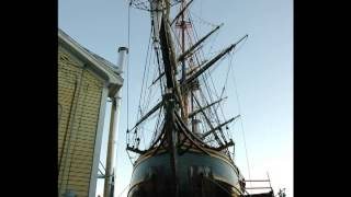 The last photos of the HMS Bounty in drydock (Boothbay harbor Maine)