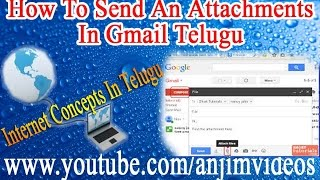 Internet Concepts In Telugu || How To Send An Attachments In Gmail In Telugu || Internet Basics