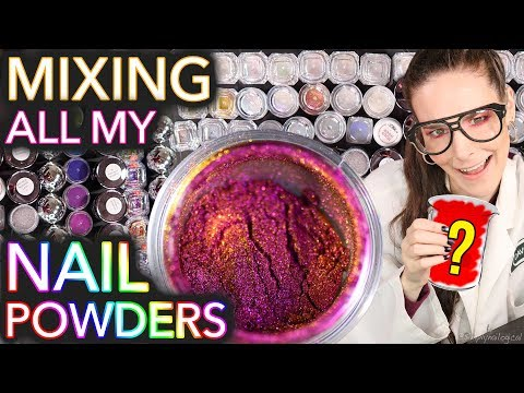Mixing All My Nail Powders Together (for sale if u keep it on the DL)