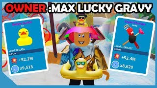 The OWNER HACKED My Account.. He Gave Me MAX LUCK! - Roblox Unboxing Simulator