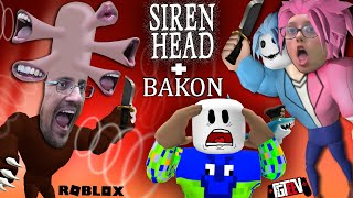 ESCAPE SIRENHEAD & BAKON! Double ROBLOX Game w/ FGTeeV Duddz & Lex