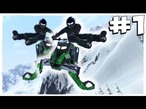 Snow Moto Racing Freedom прохождение [60fps ULTRA] Часть 1 - Суровые гонки на снегоходах!