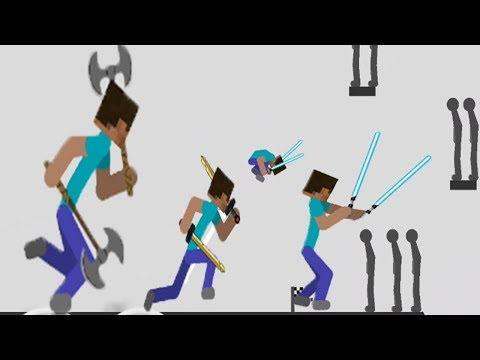 Stickman Backflip Killer 3: MINECRAFT CHARACTER - HACK Unlimited Coins - Android GamePlay