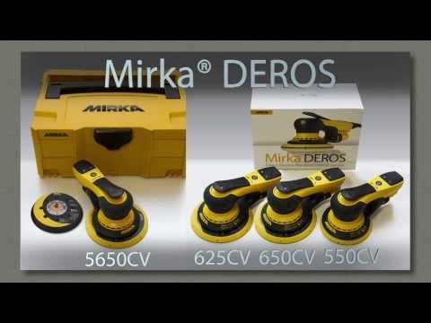 Mirka®  DEROS -- уникальная электрическая шлифовальная машинка для сектора строительства и отделки.