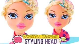 Bratz Color Changing Hair Cream Styling Head! Play Doh Glitter Cloe Doll Makeover by DCTC