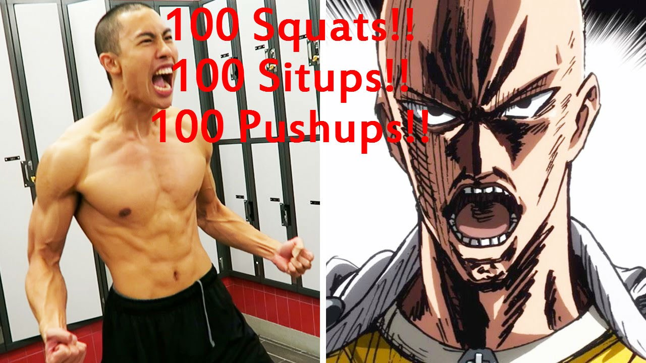 How to - One Punch Man Training Challenge - Day 1 2016 ...