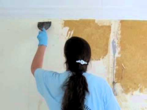 How To Remove Wallpaper Without A Steamer Youtube