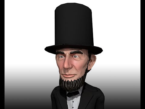 Abraham Lincoln 3D Caricature