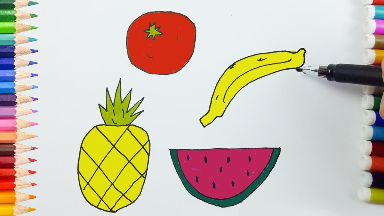 Drawing Fruits With Colors