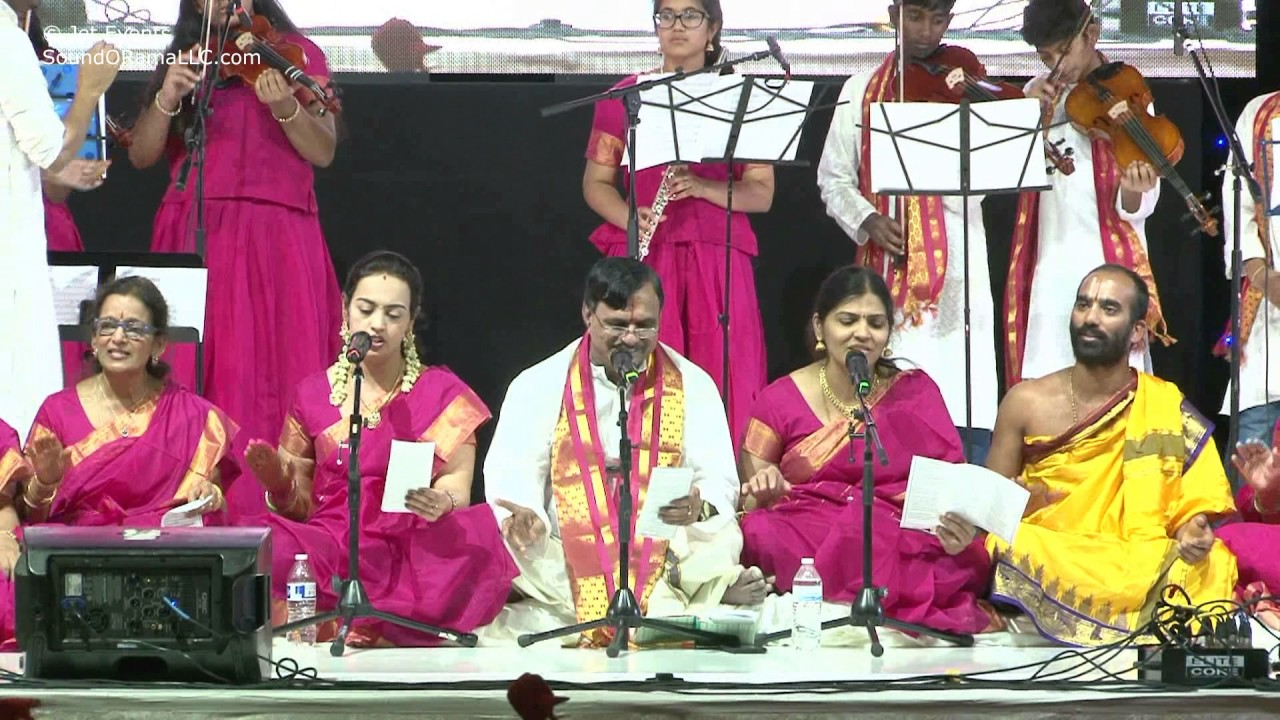 "Raganjali singers singing ""Kosala Suta"" at Sashtipoorthi Celebrations."