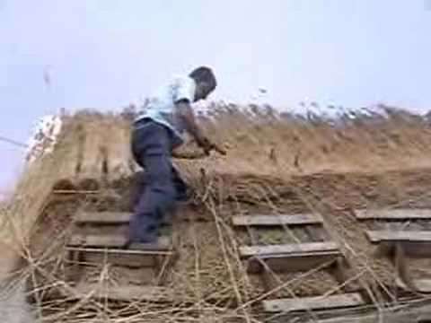 construction of thatched roof thatching cork ireland youtube - Thatched Rood