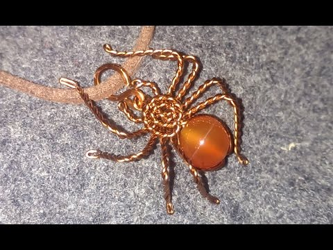 Spider pendant - handmade copper jewelry 110