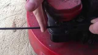 PushMowerRepair.com - Throttle Cable Replacement and Z-Bending