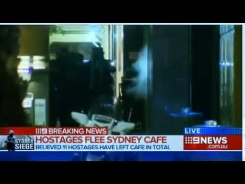 LIVE COVERAGE  Gunfire as police storm Lindt cafe 2014 9News Sydney
