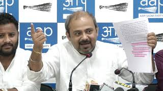 AAP press conference on corruption in East MCD