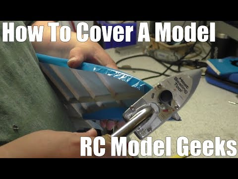 Junior 60 Build Pt2 How to cover a model Aeroplane RC Model Geeks