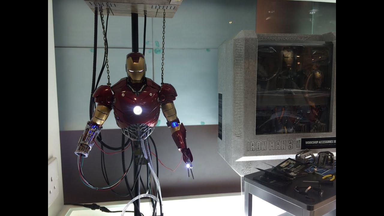 Hot Toys Iron Man Mark 3 construction diorama and GOTG