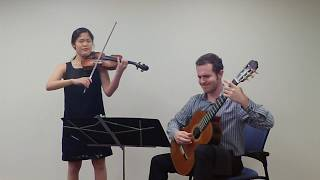 "C. Debussy: ""Beau Soir"" for violin and guitar"