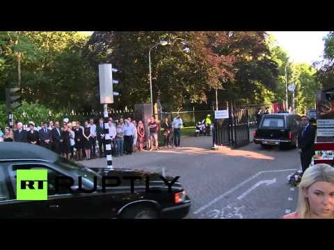 Netherlands: Convoy of 74 hearses carry MH17 bodies to Hilversum for identification