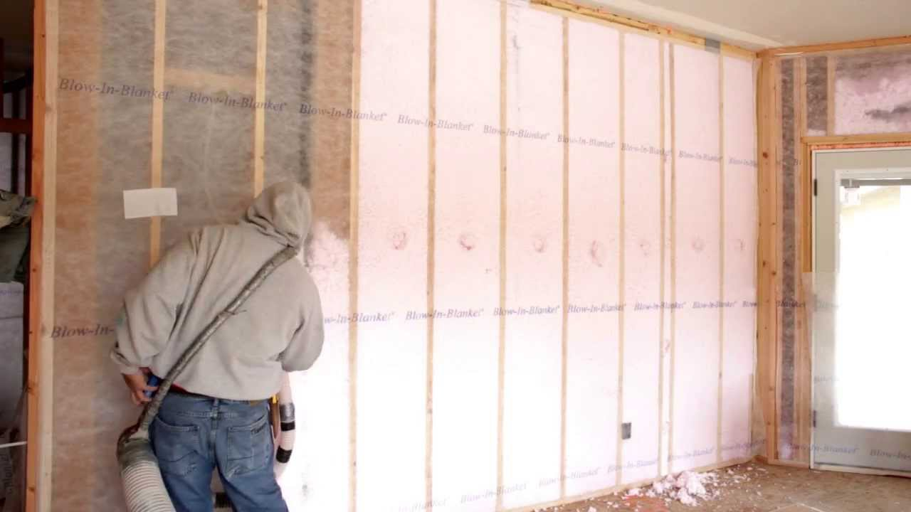 Double wall construction and blown in insulation in a zero for New home insulation