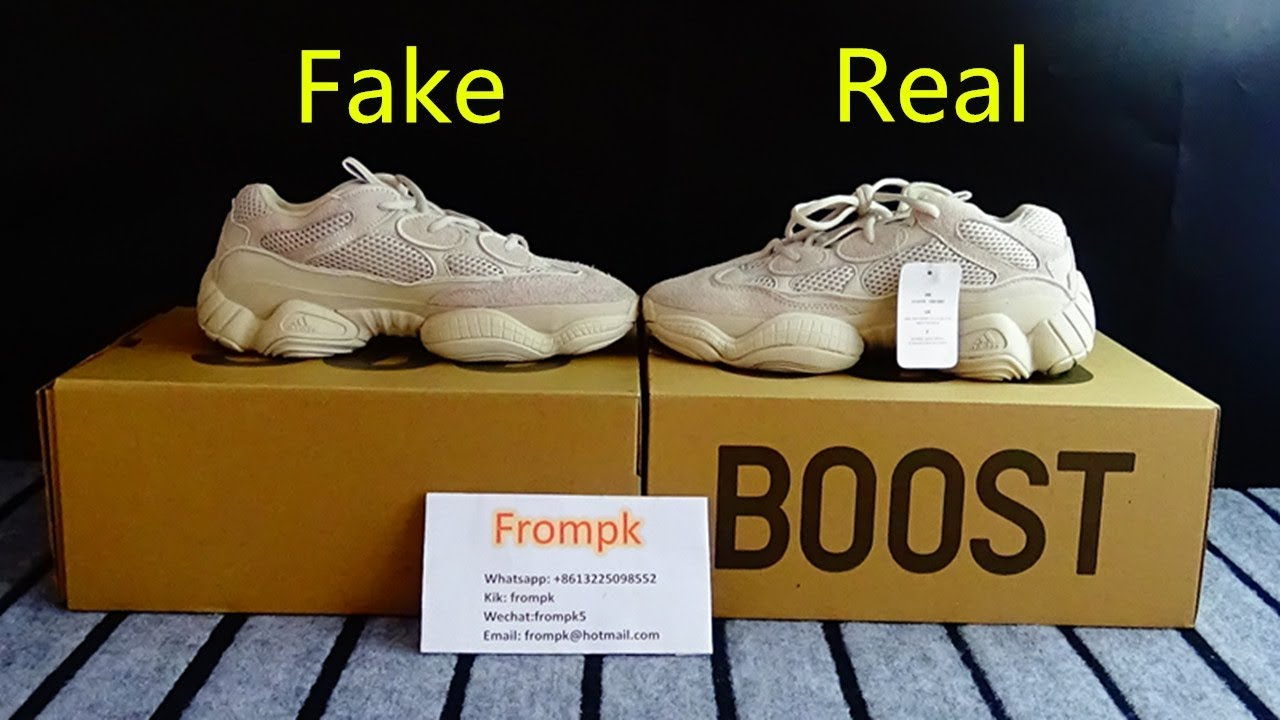 low priced f57ab ce0a1 Quick Look at here!! Real vs Fake Yeezy boost 500 Blush PK www.frompk.net!!