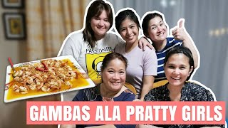 GAMBAS ALA PRATTY GIRLS! Quarantine Diaries: Cooking with the family | Camille Prats