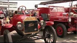 Rassemblement des anciens camions pompiers