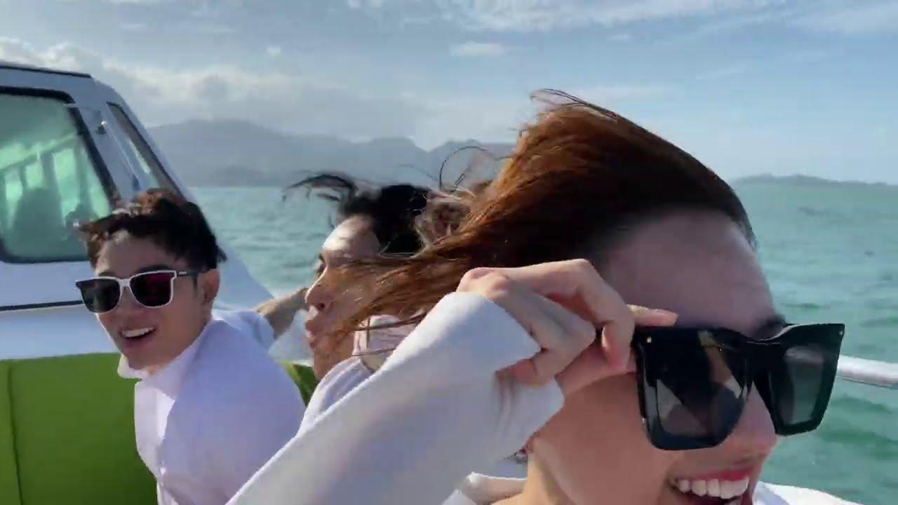 """Trấn Thành Hari Và Những Người Bạn Đi Du Thuyền Đến """"A Xìn' Villa"""" Tại Six Senses Ninh Vân Bay"""