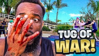 2HYPE EXTREME TUG OF WAR IN FREEZING COLD WATER (GONE WRONG)
