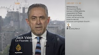 Jack Valero on Al Jazeera on the resignation of all the bishops from Chile